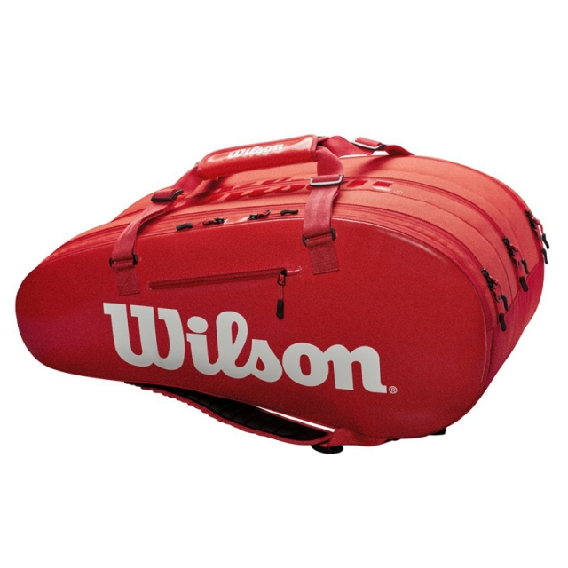 Wilson SUPER TOUR 3 COMPARTMENT 15PK 拍包袋 紅
