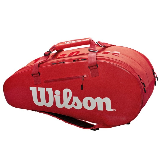 Wilson SUPER TOUR 2 COMPARTMENT LARGE 9PK 拍包袋 紅